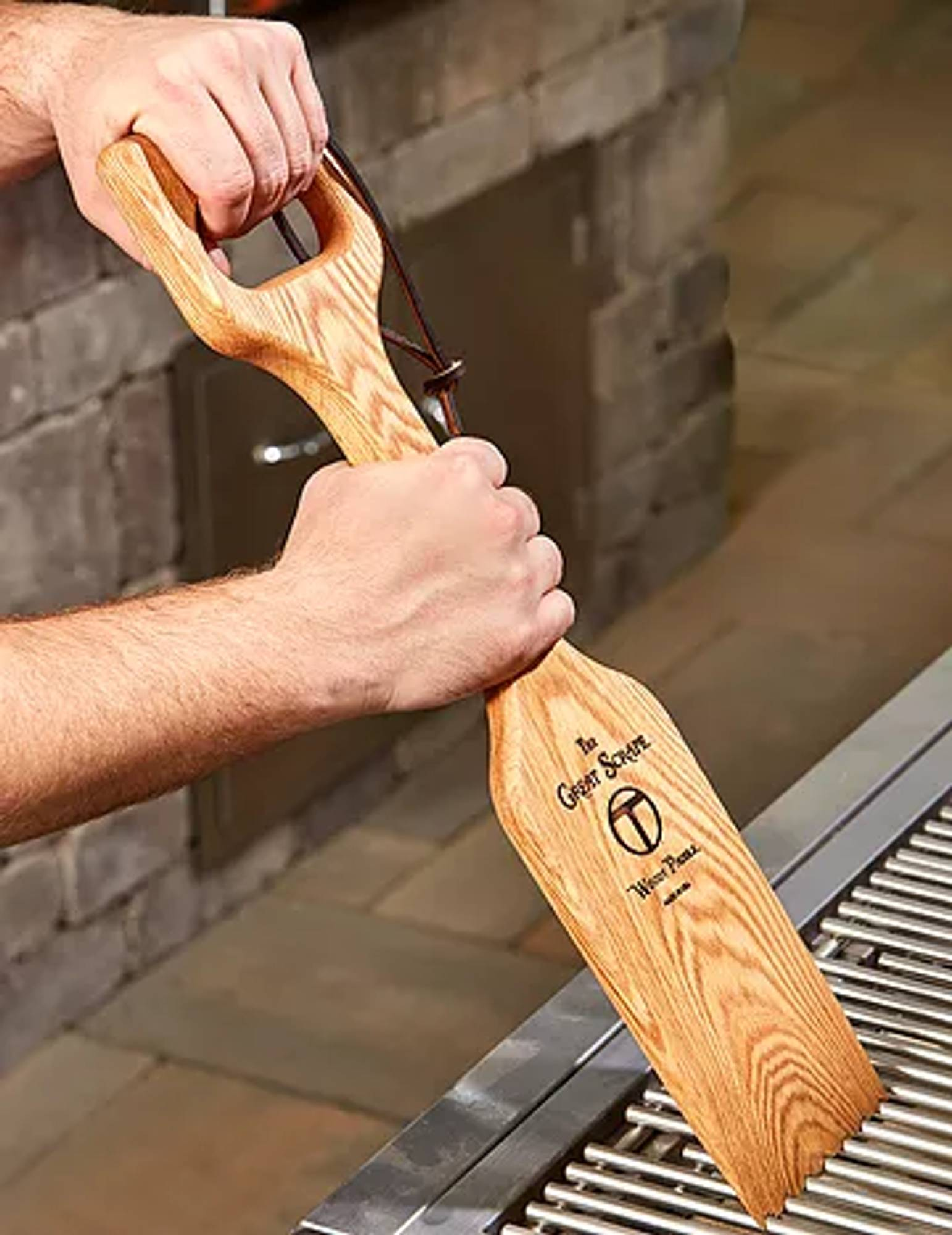 The Woody Shovel is the ultimate grilling accessory.