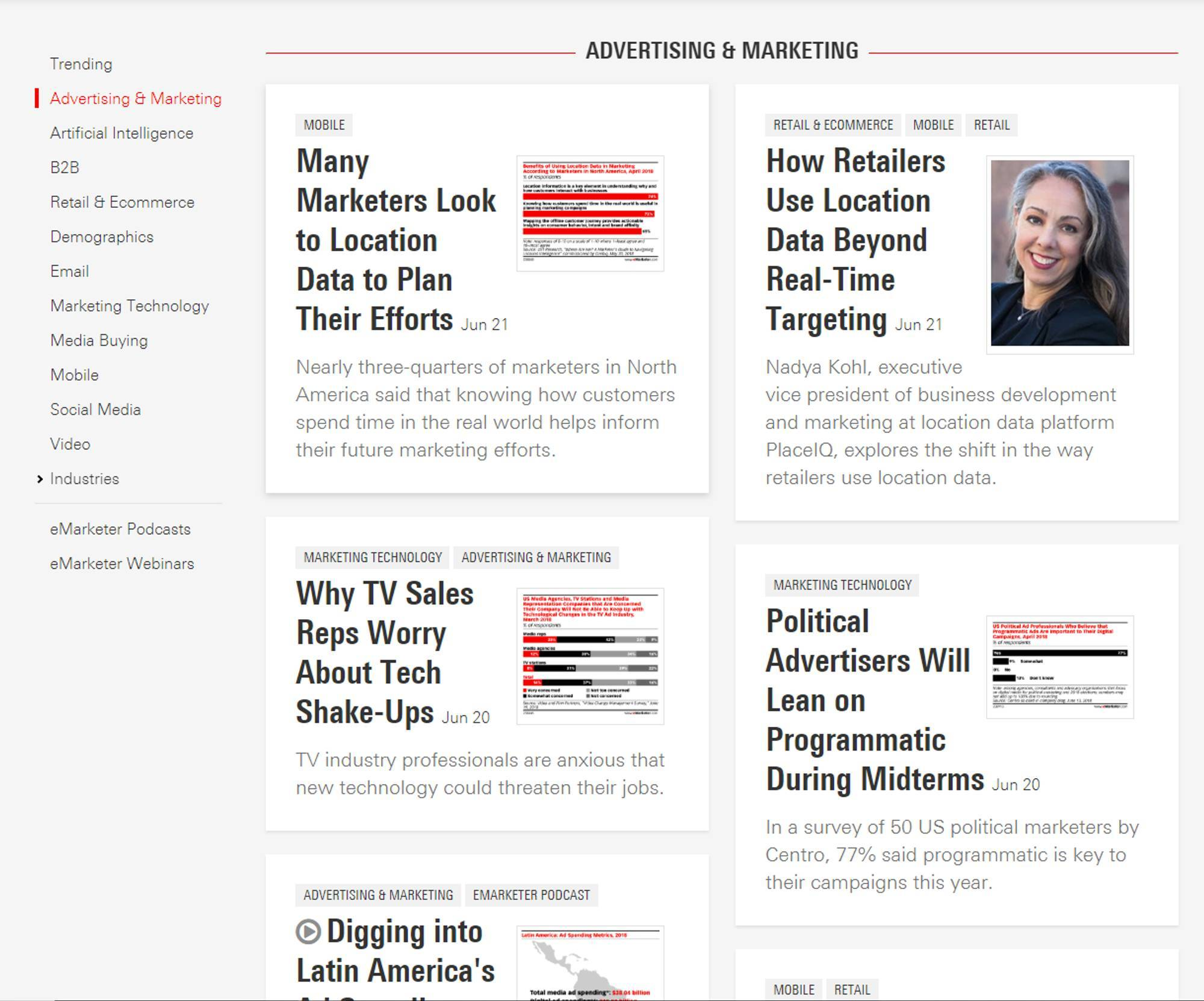 eMarketer's Recent Coverage on Retail